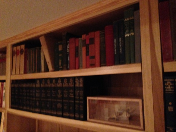 One of my older book shelves. I collect old books!
